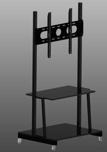 Suport rulant pentru ecran tactil interactiv cu raft pentru laptop