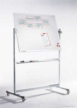 Tablă albă mobilă, rotativă LegamasterPROFESSIONAL (whiteboard)  (mai multe dimensiuni)