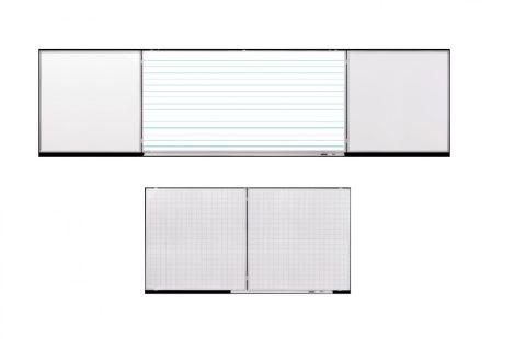 Set de conferințe Legamaster, 100x200/400 cm, cu liniere pentru clasa I și liniere cadrilată