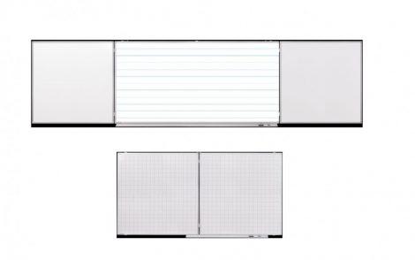 Set de conferințe Legamaster, 100x200/400 cm, cu liniere pentru clasa III și liniere cadrilată