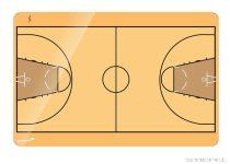 Tablă tactică de baschet Legamaster (mai multe dimensiuni)