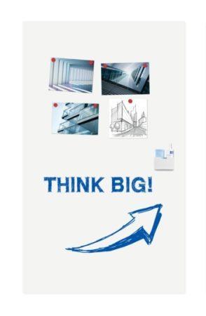 WALL-UP tablă albă de dimensiuni mari 200x119,5 cm, verticală, CU REDUCERE