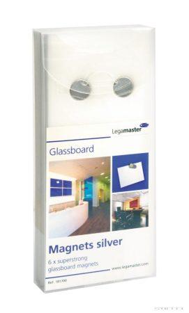 Magnet de culoare argintie pentru table de sticlă (6 buc / pachet)