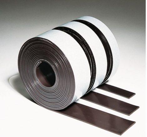 Bandă magnetică autoadezivă (în mai multe dimensiuni), 12.5x3 mm