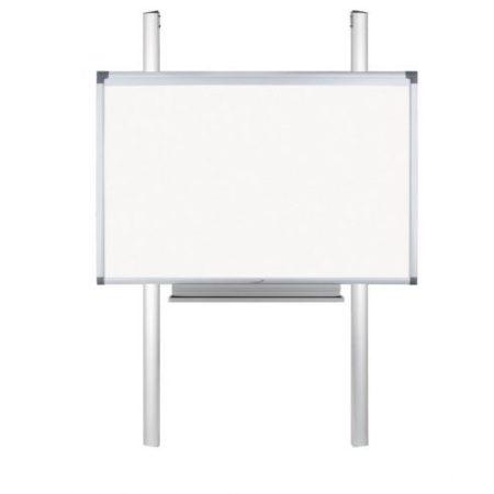 Suport de perete mobil cu piloni FLEX (înălțime fixă, pentru orice table) cu suport pentru markere și raft pentru laptop