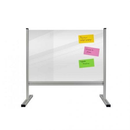 Panou alb separator de masă ECONOMY 65x100 cm, transparent (3 mm)