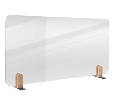 ELEMENTS separator transparent de birou 60x120 cm