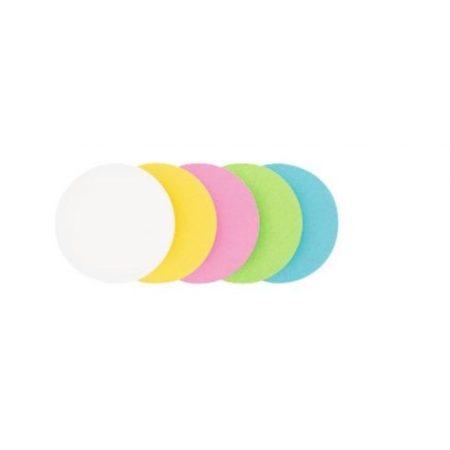 Carduri rotunde de moderare, 5 culori, 9,5 cm