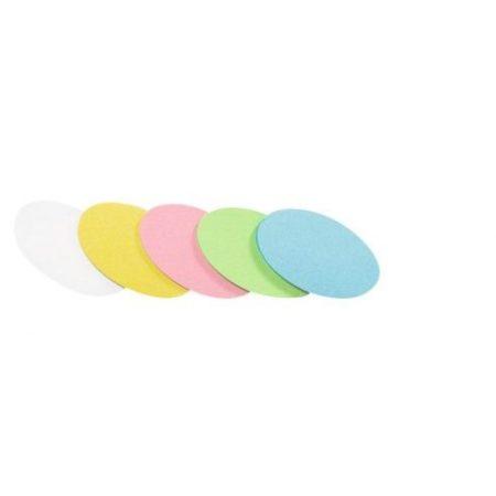 Carduri ovale de moderare, 500 buc., în mai multe culori