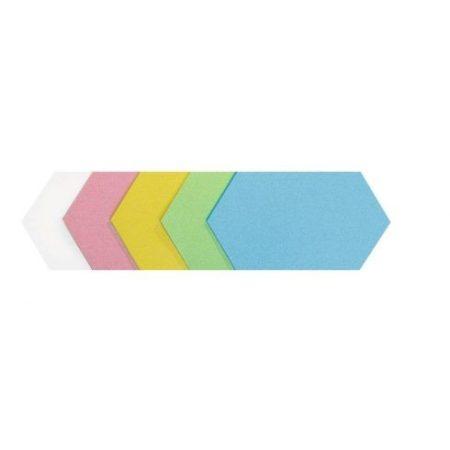 Carduri hexagonale de moderare, 5 culori, 16,5x29,5 cm, 100 buc.