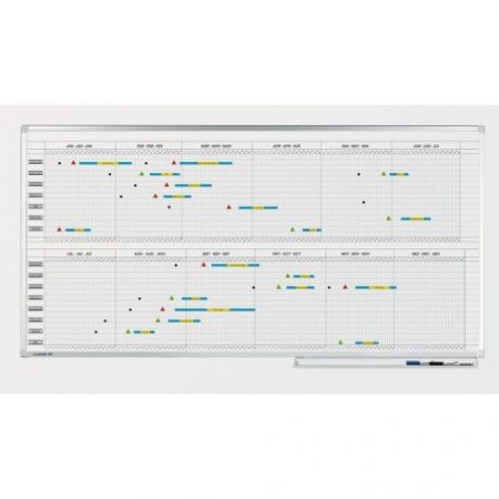 Planificator anual Legamaster Premium 2*6 luni, 100*120 cm