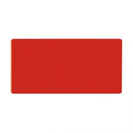 Dreptunghi magnetic, 20x60 mm, roșu