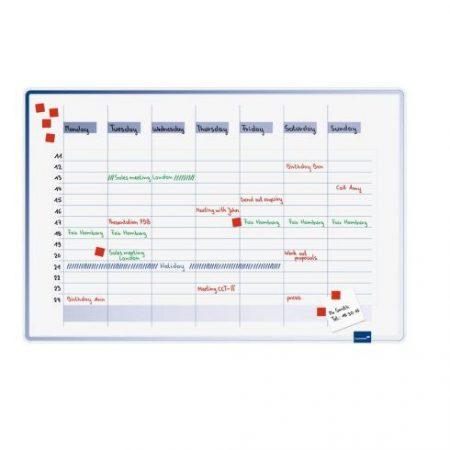Planificator săptămânal ACCENTS (vertical), 60x90 cm