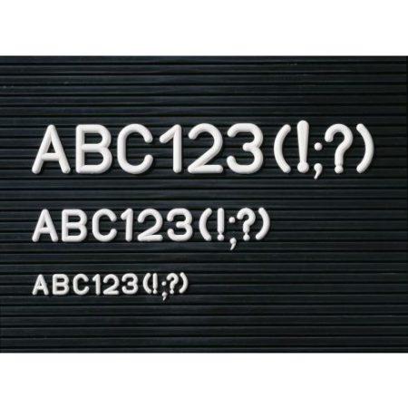Set de caractere pentru panou informativ, jumătate de cutie, 12 mm (în mai multe dimensiuni)