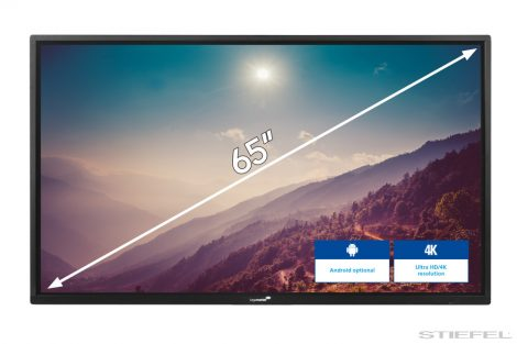 "Afișaj LCD interactiv Legamaster (ecran electronic) 65 ""ETX-6520 UHD negru"